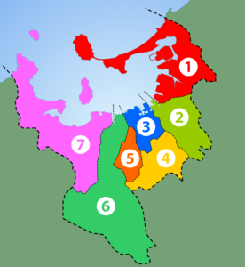 "<p><a href=""https://commons.wikimedia.org/wiki/File:Wards_of_Fukuoka_City_Japan.png#/media/File:Wards_of_Fukuoka_City_Japan.png"">Bild från wikipedia, modifierad.</a><br>""<a href=""https://commons.wikimedia.org/wiki/File:Wards_of_Fukuoka_City_Japan.png#/media/File:Wards_of_Fukuoka_City_Japan.png"">Wards of Fukuoka City Japan</a>"" by <a href=""//fi.wikipedia.org/wiki/K%C3%A4ytt%C3%A4j%C3%A4:Ningyou"" class=""extiw"" title=""fi:Käyttäjä:Ningyou"">User:Ningyou</a>. Licensed under <a href=""http://creativecommons.org/licenses/by-sa/2.5"" title=""Creative Commons Attribution-Share Alike 2.5"">CC BY-SA 2.5</a> via <a href=""https://commons.wikimedia.org/wiki/"">Wikimedia Commons</a>.</p>"