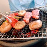 Yakiniku med wagyu och shitake-svampar