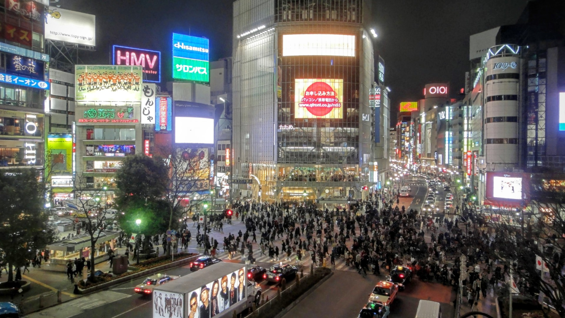 """Shibuyas centrala """"Scramble""""-korsning"""