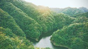 Branta berg och dalar i Ibaraki-prefekturen