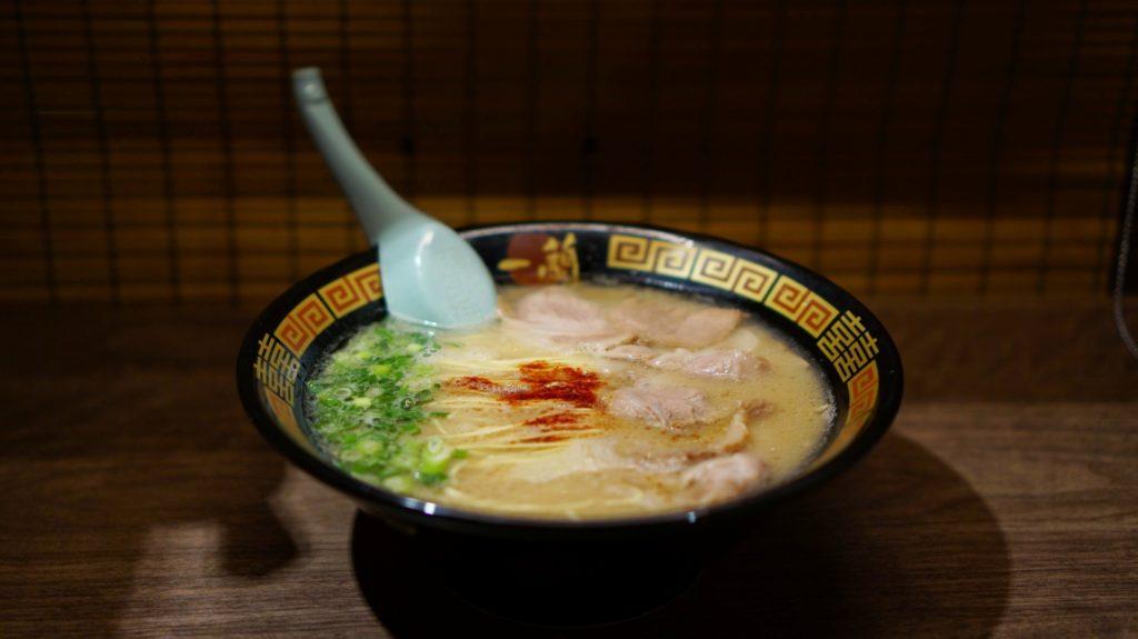 En skål tonkotsu-ramen från den populära kedjan Ichiran ramen